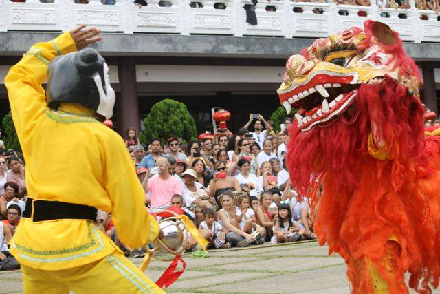 Templo Zu Lai no ano novo chinês